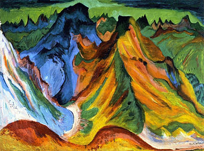 Germany Painting - The Mountain Weissfluh And Sheep Scab by Ernst Ludwig Kirchner
