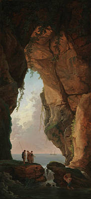 Painting - The Mouth Of A Cave by Hubert Robert