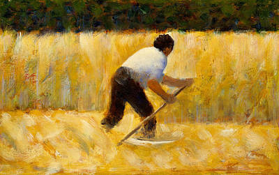 Painting - The Mower by Georges-Pierre Seurat