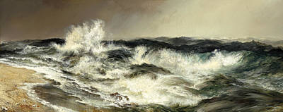 Painting - The Much Resounding Sea by Thomas Moran