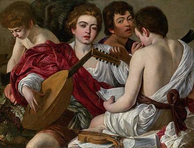 The Musicians Art Print by Caravaggio