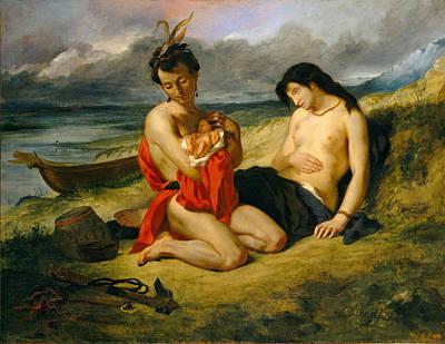 Painting - The Natchez by Eugene Delacroix