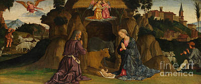 Nativity Painting - The Nativity by Antoniazzo Romano