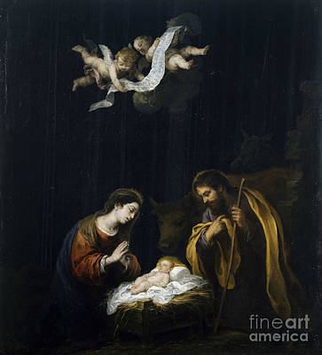 The Nativity Painting - The Nativity by Celestial Images