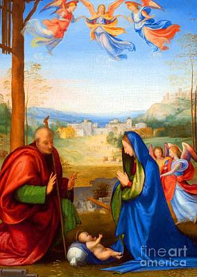 The King Painting - The Nativity by Fra Bartolomeo