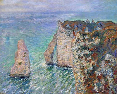 Wave Painting - The Needle And The Gate Of Aval by Claude Monet