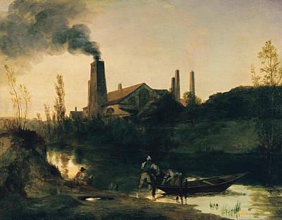 The Neustadt-eberswalde Rolling Mill Art Print by Carl Blechen