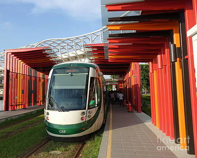 Photograph - The New Kaohsiung Light Rail Train by Yali Shi