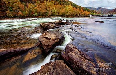 Photograph - The New River At Sandstone Falls by Laurinda Bowling
