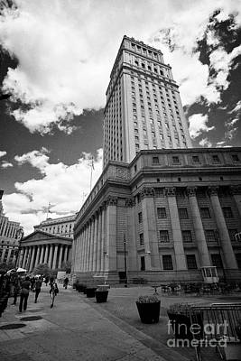 The New York County Courthouse State Supreme Court And Thurgood Marshall U.s. Courthouse Civic Cente Art Print