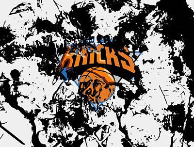 Patrick Ewing Mixed Media - The New York Knicks by Brian Reaves