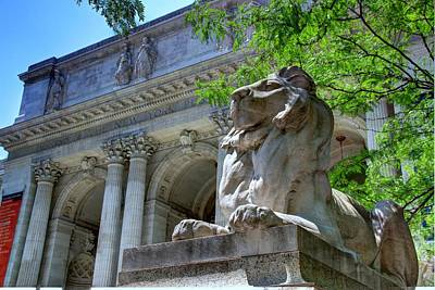 Photograph - The New York Public Library Lions by Allen Beatty