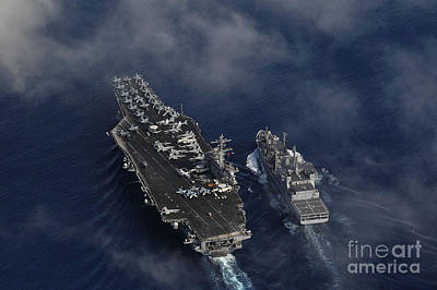 Us Navy Painting - The Nimitz-class Aircraft Carrier Uss Carl Vinson by Celestial Images