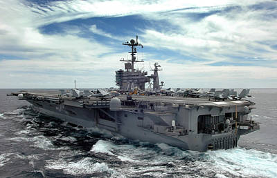 Transportation Royalty-Free and Rights-Managed Images - The Nimitz-class Aircraft Carrier Uss by Stocktrek Images