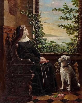 Kugler Painting - The Nun by Georg Kugler