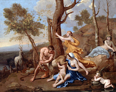 Nicolas Poussin Painting - The Nurture Of Jupiter by Nicolas Poussin