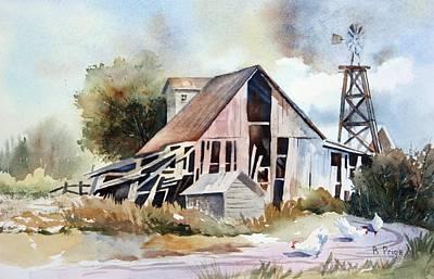 The Old Barn Art Print by Bobbi Price