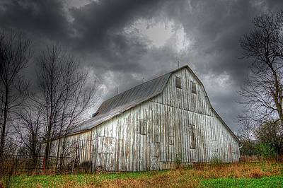 Photograph - The Old Barn by Karen McKenzie McAdoo