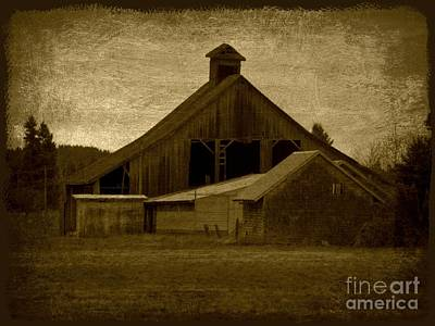 Digital Art - The Old Barn by Sheila Ping