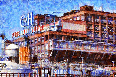 Collar Digital Art - The Old C And H Pure Cane Sugar Plant In Crockett California . 5d16769 by Wingsdomain Art and Photography