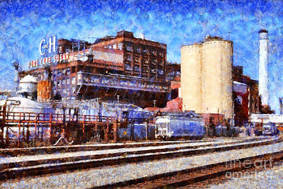 Old Town Digital Art - The Old C And H Pure Cane Sugar Plant In Crockett California . 5d16770 by Wingsdomain Art and Photography