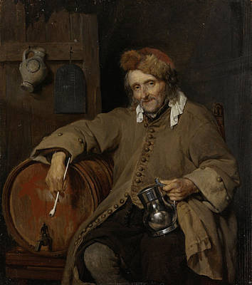 Drinking Painting - The Old Drinker by Gabriel Metsu
