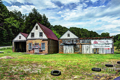Photograph - The Old Gas Station by Paul Mashburn