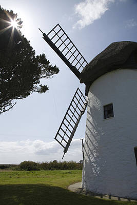 Art Print featuring the photograph The Old Irish Windmill by Ian Middleton