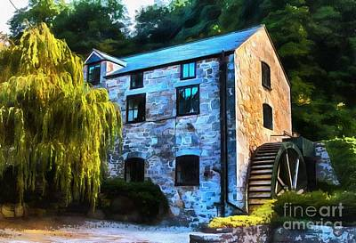 Wales Digital Art - The Old Mill  by Chris Evans