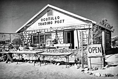 Photograph - The Old Ocotillo Trading Post Bw by Gabriele Pomykaj