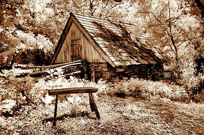 Split Rail Fence Photograph - The Old Stool by Paul W Faust - Impressions of Light