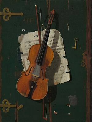Violin Painting - The Old Violin by Mountain Dreams