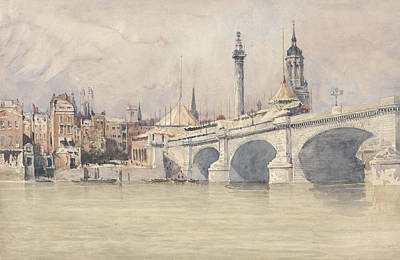 Painting - The Opening Of The New London Bridge by David Cox