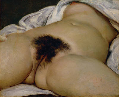 Gustave Wall Art - Painting - The Origin Of The World by Gustave Courbet