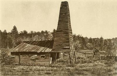 Titusville Photograph - The Original 1859 Drake Oil Well by Everett