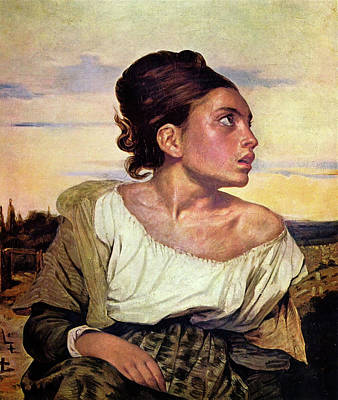 Profile Painting - The Orphan Girl At The Cemetery by Eugene Delacroix