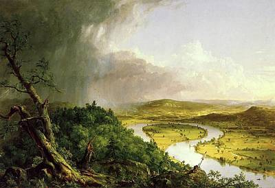 Painting - The Oxbow by Thomas Cole
