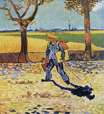 Painting - The Painter On His Way To Work by Vincent van Gogh