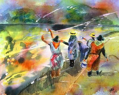 The Painters Art Print by Joyce Ann Burton-Sousa