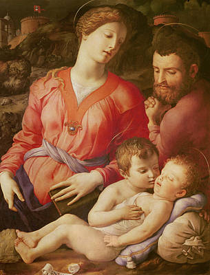Baptist Painting - The Panciatichi Holy Family by Agnolo Bronzino
