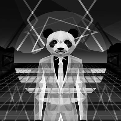 Morning Light Drawing - The Panda by Gallini Design