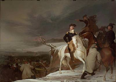 The Passage Of The Delaware Art Print by Thomas Sully