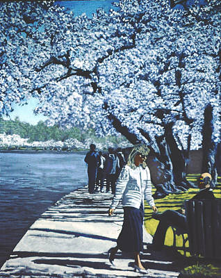 Tidal Basin Painting - The Passage Of Time by David Zimmerman
