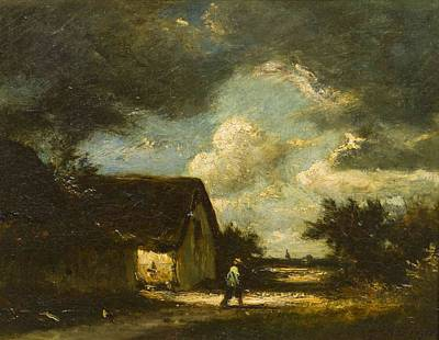Storm Clouds Painting - The Passing Storm by Jules Dupre