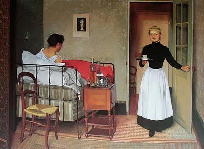 The Patient Art Print by Felix Vallotton