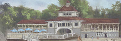 The Pavilion At Lakeside Ohio Art Print by Terri  Meyer
