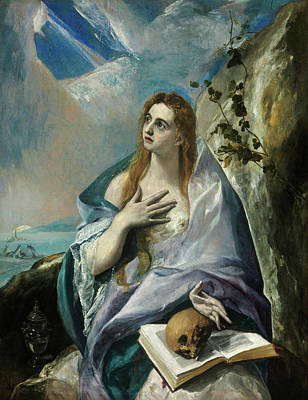 Saint Painting - The Penitent Mary Magdalene by El Greco