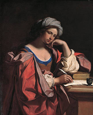 The Persian Sibyl Painting - The Persian Sibyl by Guercino