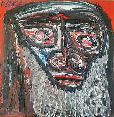 Painting - The Philosopher by Darrell Black