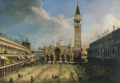 Italian Landscapes Painting - The Piazza San Marco In Venice by Canaletto
